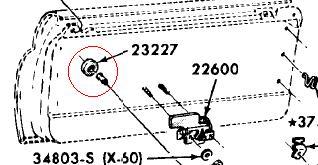 C7TZ-8123227-A Front Door Window Regulator Handle Spacer
