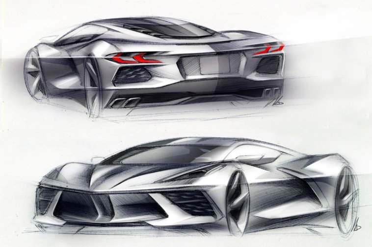 2020 Corvette Stingray Design Sketch