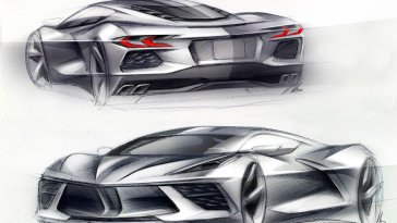 2020 Corvette Stingray Design Sketch