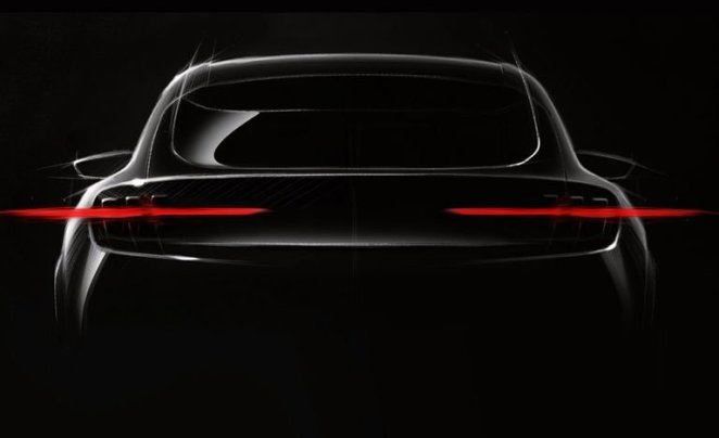 Ford Mach E Crossover Rear Teaser Photo