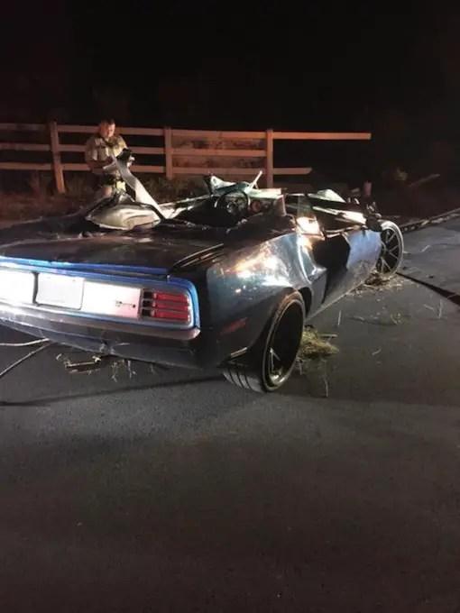 Hellcat Barracuda Crash