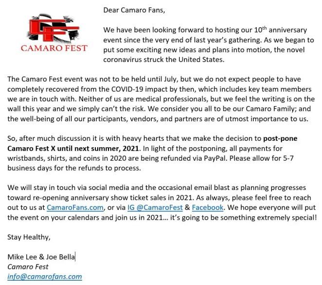 Camaro Fest
