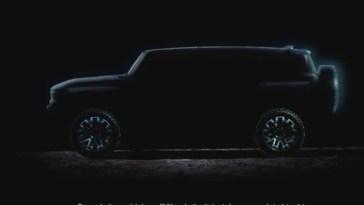 2022 Hummer EV SUV Teaser Reveal