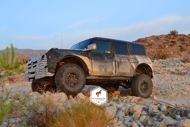 Ford Bronco Warthog Prototype Testing In The Desert