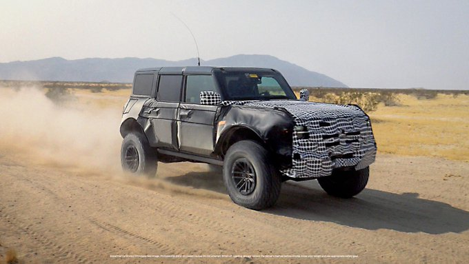 Ford Bronco Warthog Raptor Spy Shot Teaser Photo Official