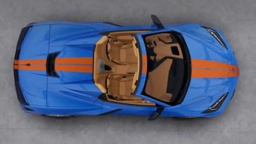 2021 Corvette Stingray C8 Gulf Livery R Package Colors Configurator Visualizer