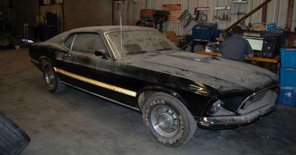 1969 Cobra Jet Mustang Barn Find 11