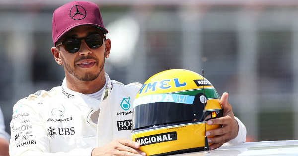 Senna Helmet After Crash