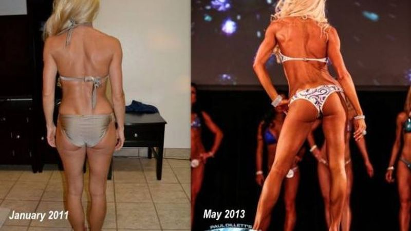 female fitness transformation