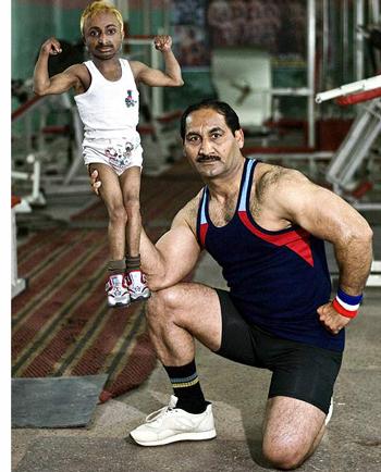 Bodybuilder dwarf