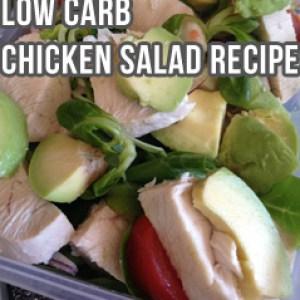 Quick Low Carb Chicken Avocado Salad Recipe