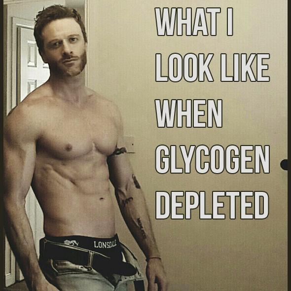 What I look like Glycogen Depleted