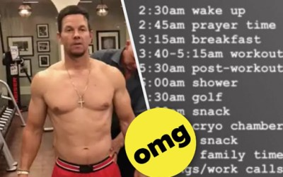 Mark Wahlberg's Daily Schedule