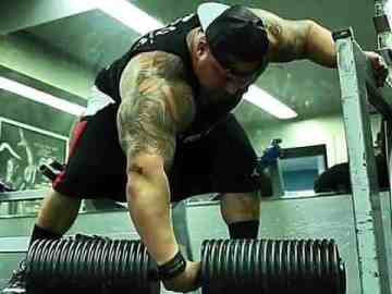 rich piana large dumbbell