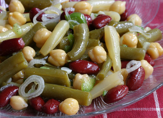 Three Plus Bean Salad