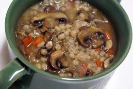 Barley n Shrooms Soup