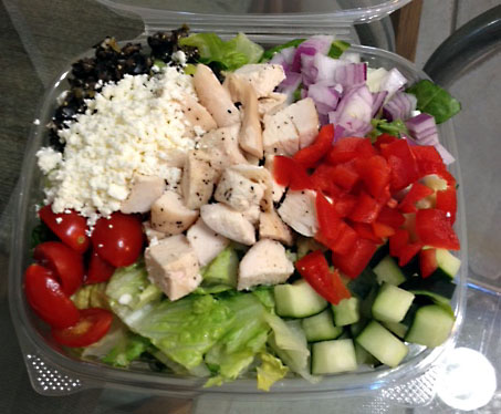 Greek Salad w/ chicken