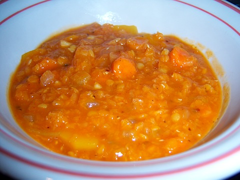 Exotic Red Lentil Soup