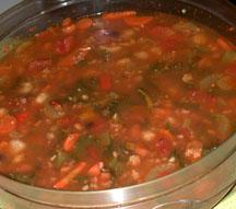Suasage n Bean Soup
