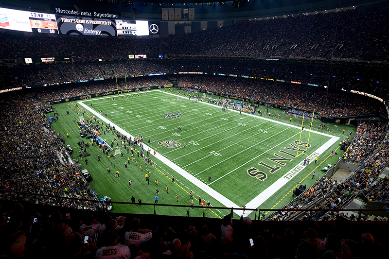 Plans were drawn up in 1967 by the new orleans modernist architectural firm of. Mercedes Benz Superdome Musco Sports Lighting