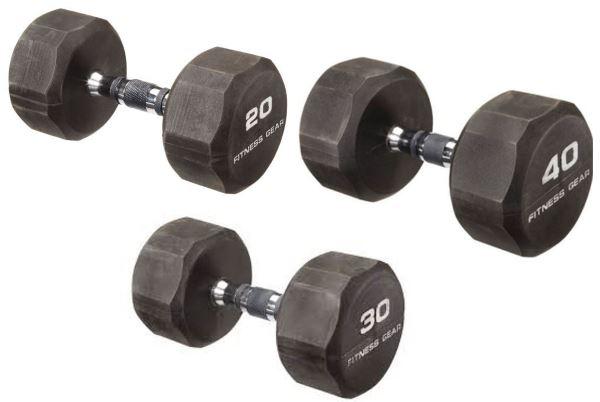 Haltères de 20, 30 et 40 kg