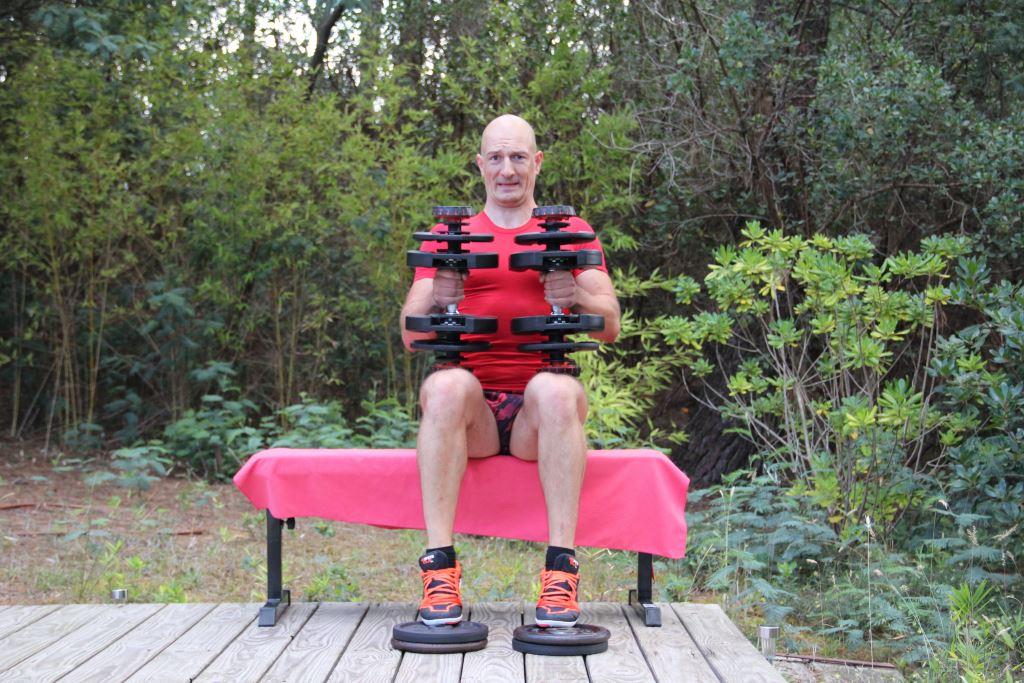 Mollets assis avec haltères 2