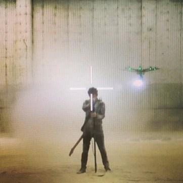 Clipe de #DeadInside está sendo gravado [1/2]! #Muse #MuseDrones #DomHoward #MattBellamy #ChrisWolstenholme #Drones #Psycho