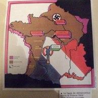 Après la drôle de guerre, la débâcle et l'exode, la ligne de démarcation entre la France libre et la France occupée