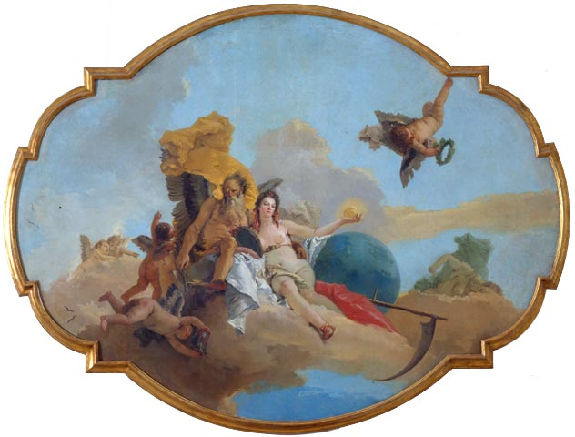 Tiepolo, La Verità svelata dal Tempo, uncensored version, censored by Berlusconi