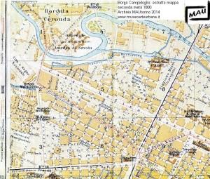 mappa borgo campidoglio 1850