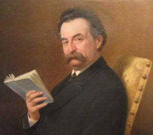 Ferdinando Rossaro (1846 - 1927), Ritratto del Colonnello Cesare Faccio, 1875, particolare
