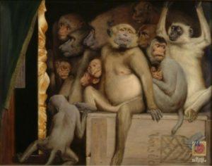Scimmie come critici d'arte, Museo Borgogna