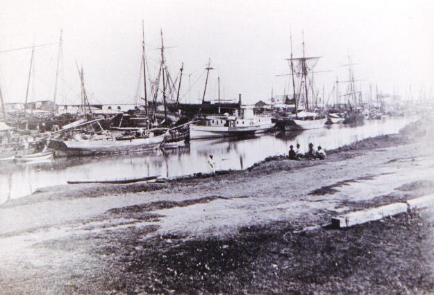 Muelle de La Boca - Año 1889