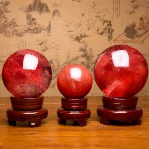 05-Bola de Cristal Rojo Meditación - 40cm