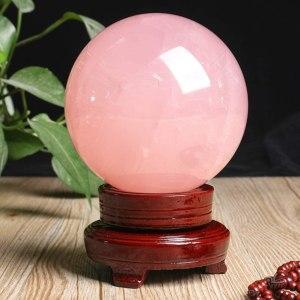 02-Bola de Cristal Rosa Meditación - 8cm
