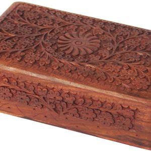 01-Caja para tarot flor central