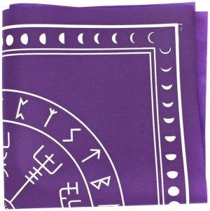03-Mantel para tarot Runas - Morado