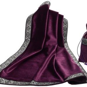 01-Mantel y bolsita para tarot - Morado