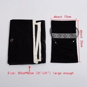 02-Mantel y bolsita para tarot - Negro