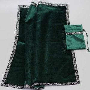 03-Mantel y bolsita para tarot - Verde