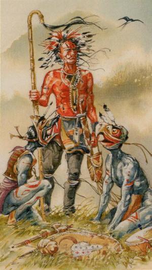 Native American Tarot  El Hierofante