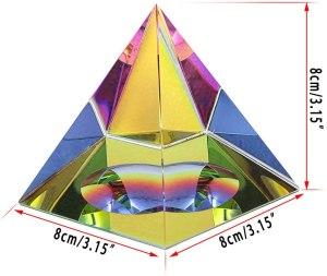 02-Pirámide Energía Cristal iridiscente 8cm