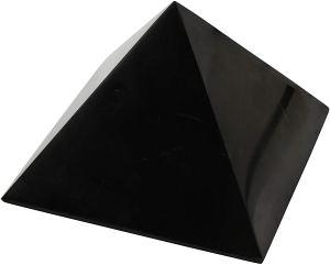 02-Pirámide Energía Shungita pulida 10cm