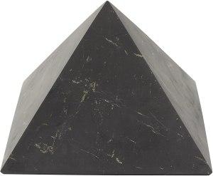 01-Pirámide Energía Shungita sin pulir 10cm