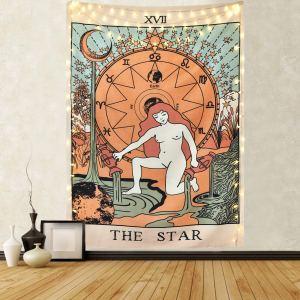 01-Tapiz Tarot Color  La Estrella XVII