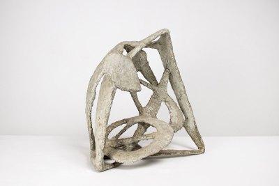 """""""Ave en su nido"""" 1958 : alambre de hierro cubierto con pasta 41 x 38 x 28 cm"""