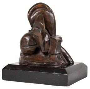 """Filósofo"" ca. 1927 : bronce: 15 x 14 x 13 cm"