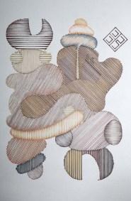 Composición de escarabajo | 1997 Plumón 95.5 x 76 x 3.5 cm