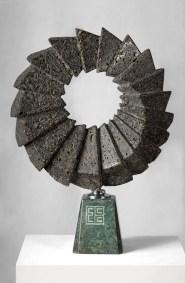 Gradación | 2014 Talla sobre piedra basáltica 47 x 40 x 10 cm