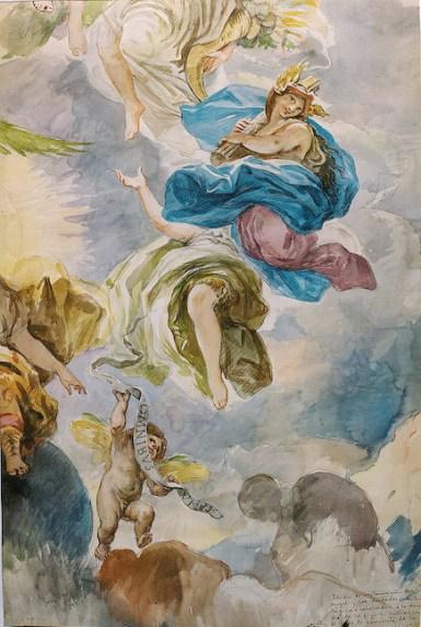Ángel y deidades mitológicas.